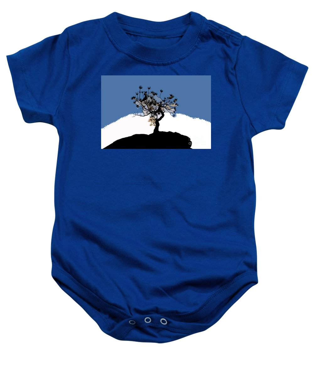 Tree Baby Onesie featuring the painting A Will To Live by David Lee Thompson