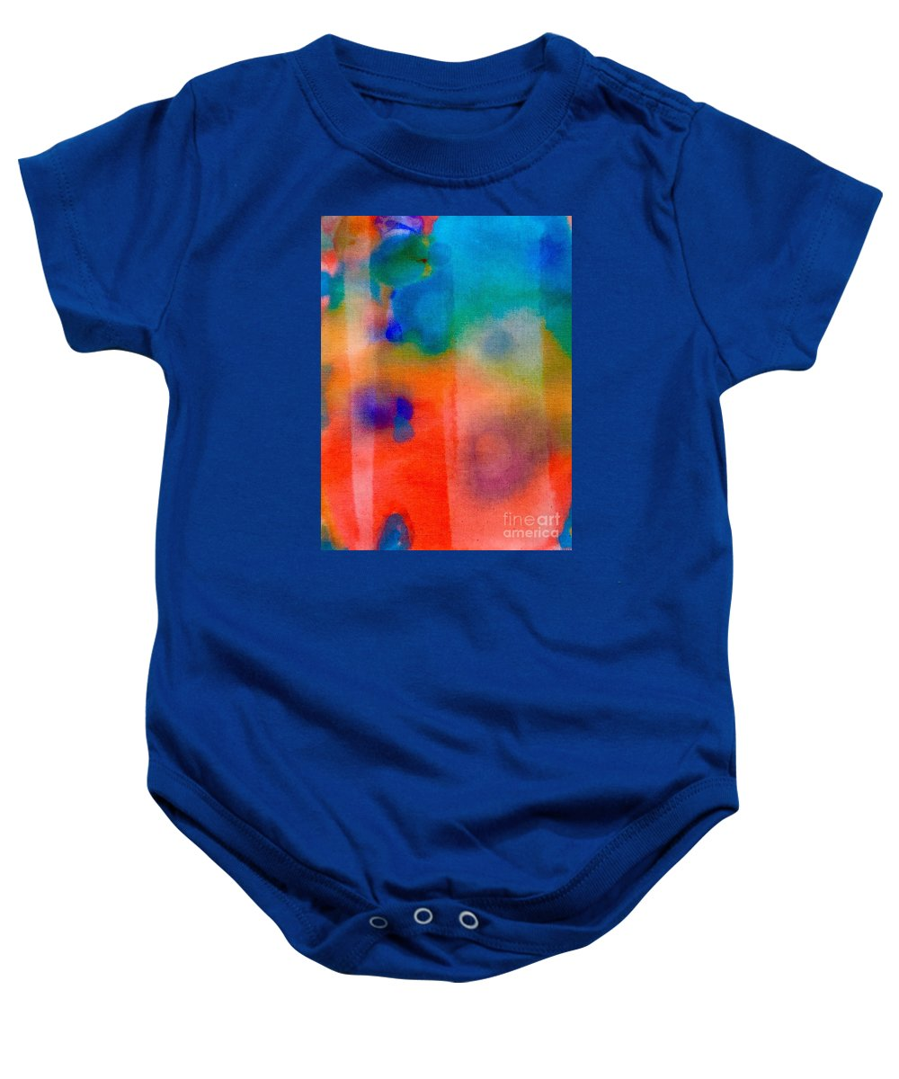 Abstract Baby Onesie featuring the painting Abstract 1 by Cristina Stefan