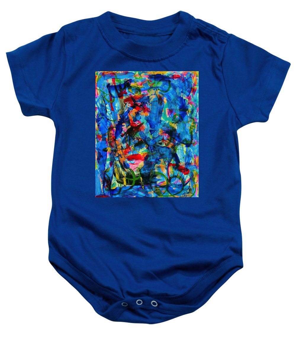 Abstract Baby Onesie featuring the painting Abstract 6 by Natalie Holland