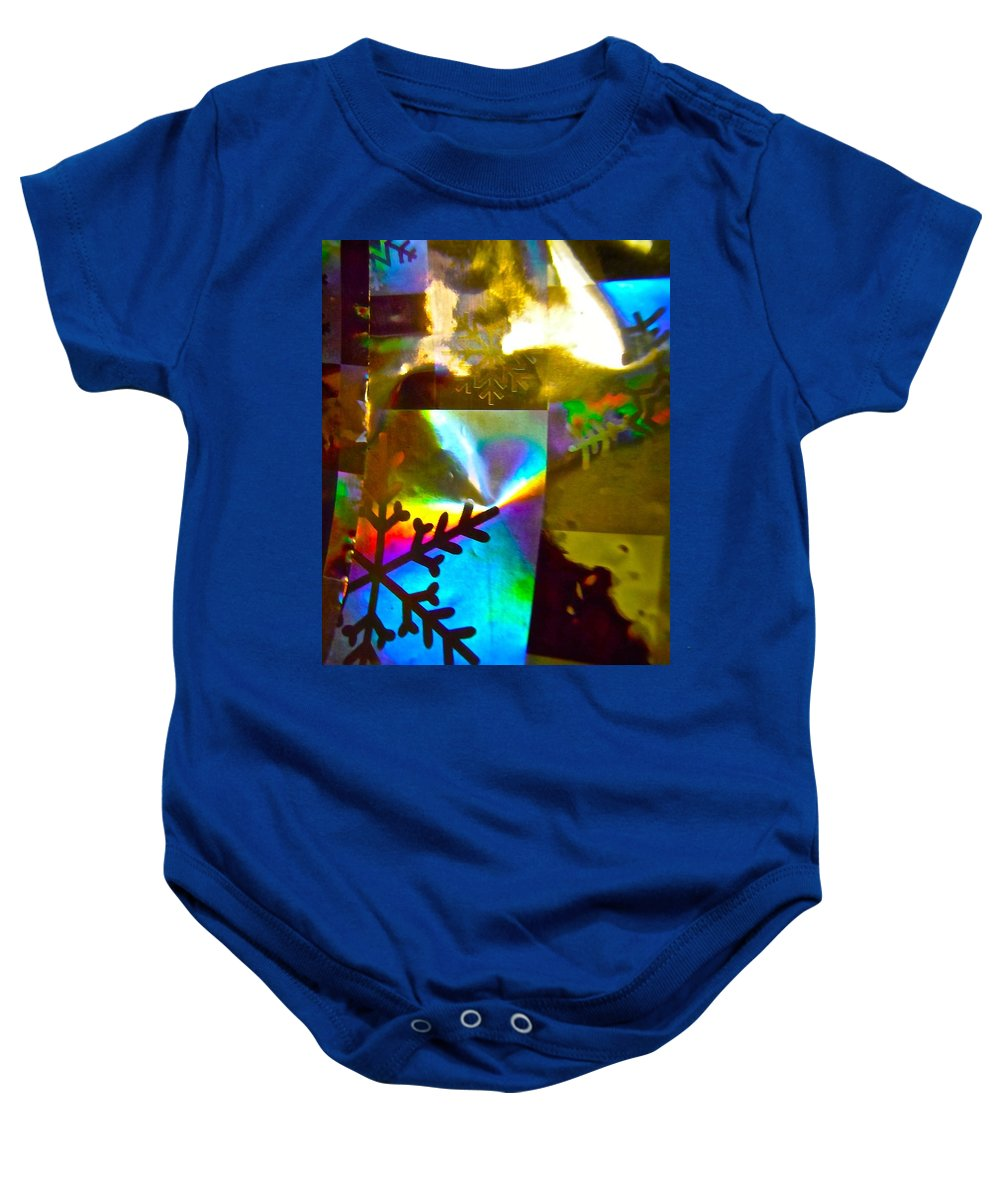 Blue Baby Onesie featuring the photograph Abstract 6162 by Stephanie Moore