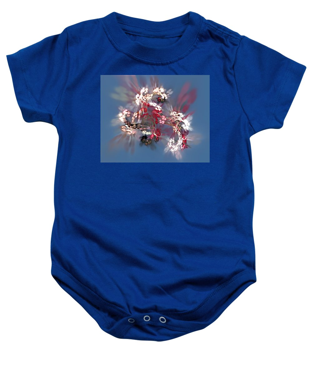 Floral Baby Onesie featuring the digital art Abstract Floral Fantasy by David Lane