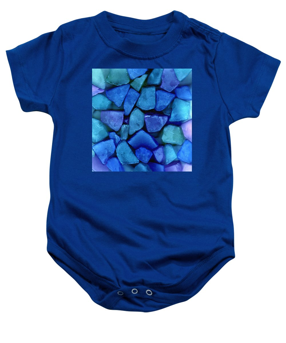 Glass Baby Onesie featuring the photograph Abstract In Glass by Wayne Potrafka