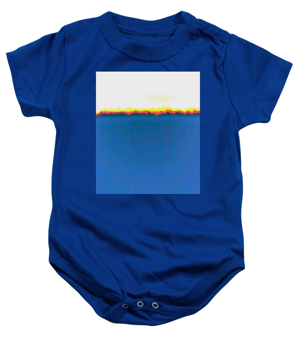 Abstract Baby Onesie featuring the photograph Abstract In Primary Colors by Lenore Senior