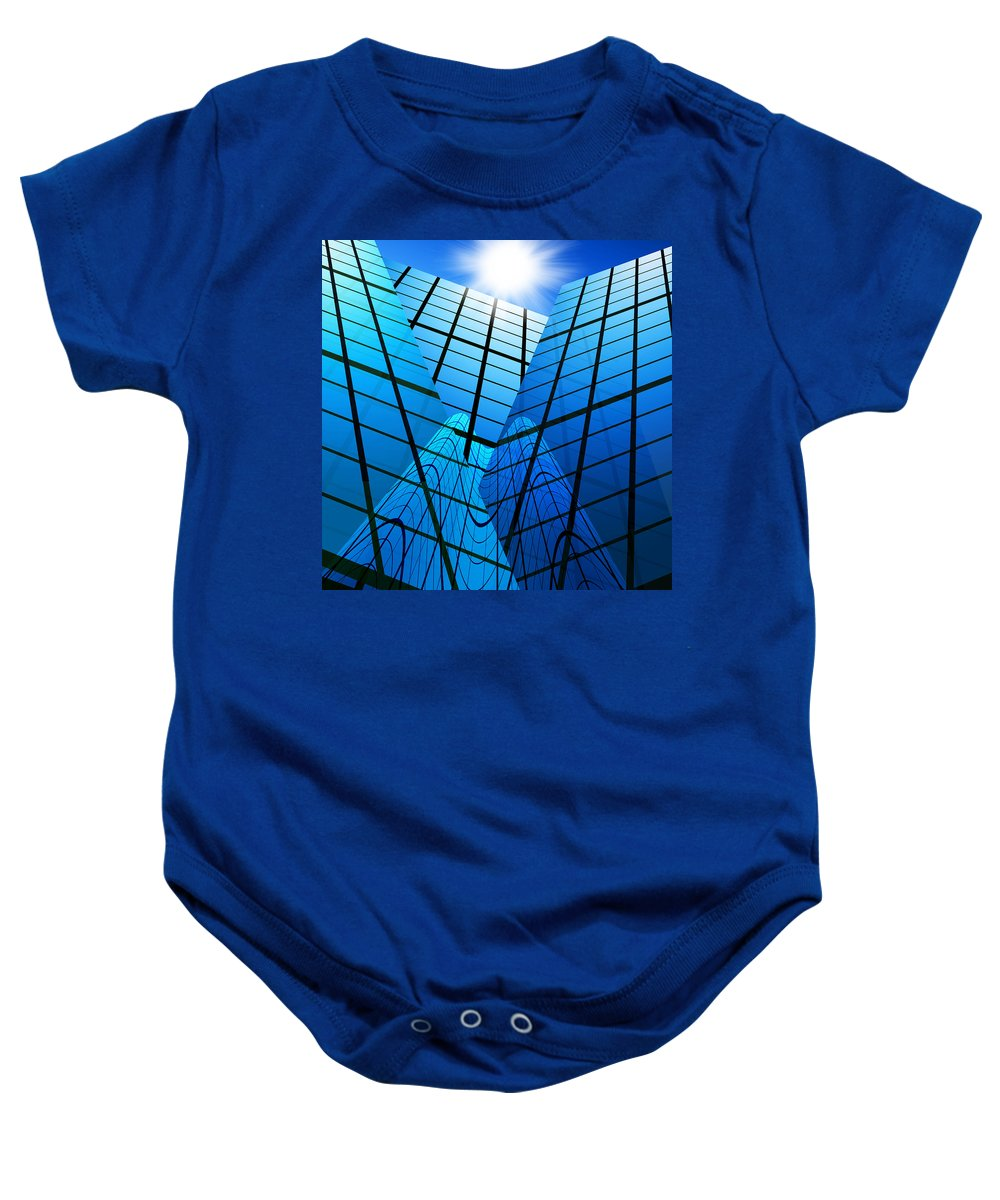 Abstract Baby Onesie featuring the photograph Abstract Skyscrapers by Setsiri Silapasuwanchai