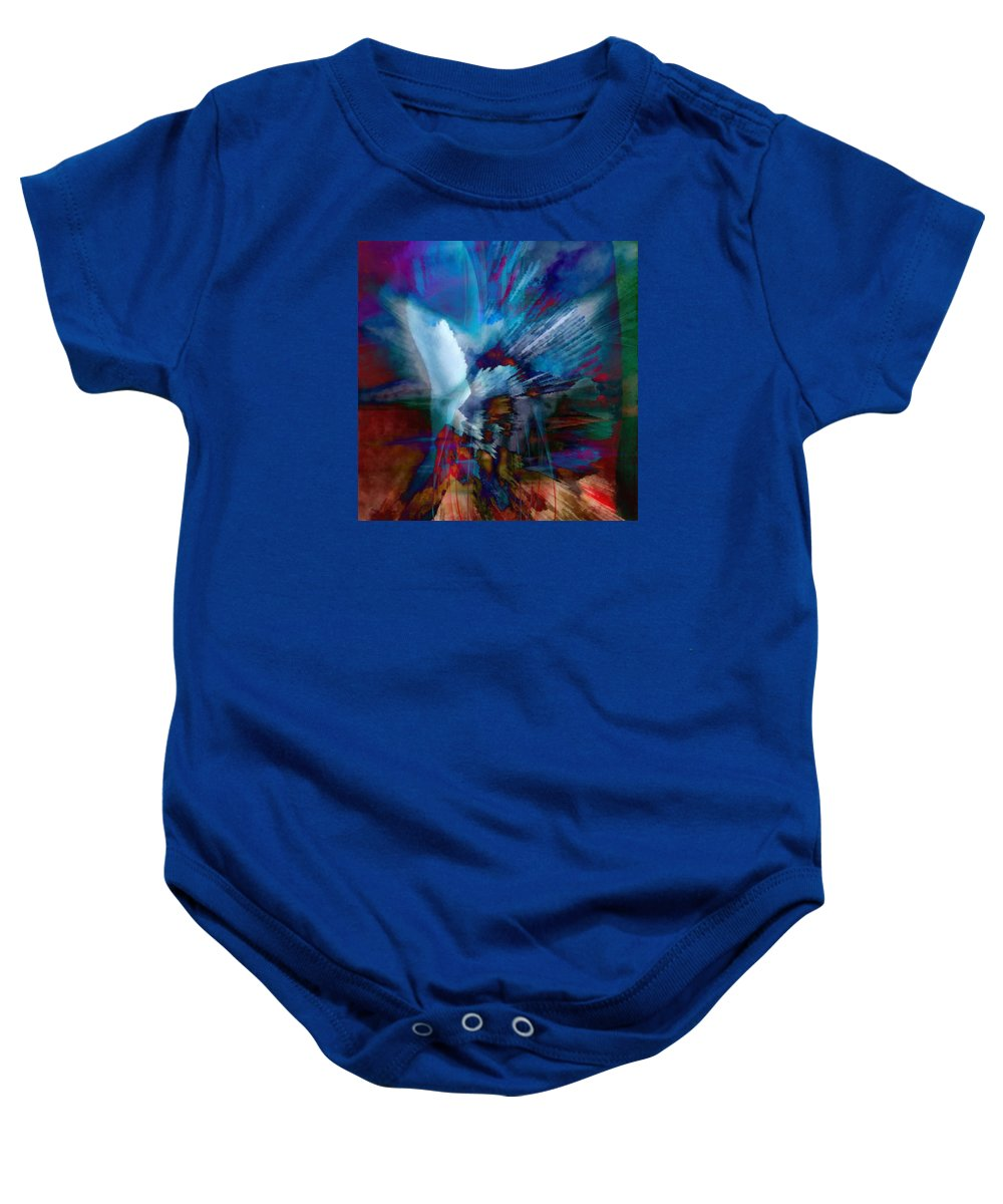 Abstract Visual Baby Onesie featuring the painting Abstract Visual by Catherine Lott