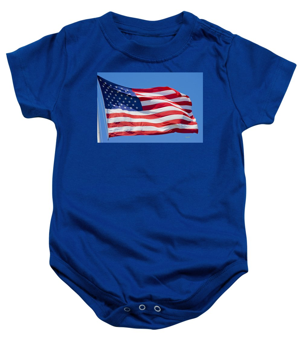 Harkers Island Baby Onesie featuring the photograph America by Betsy Knapp
