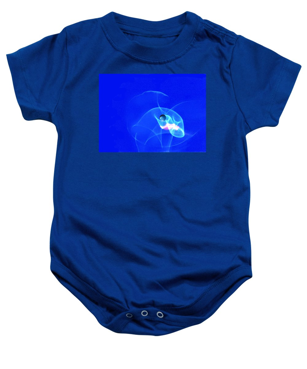 Abstract Baby Onesie featuring the photograph Apparition Pearl by Steve Karol