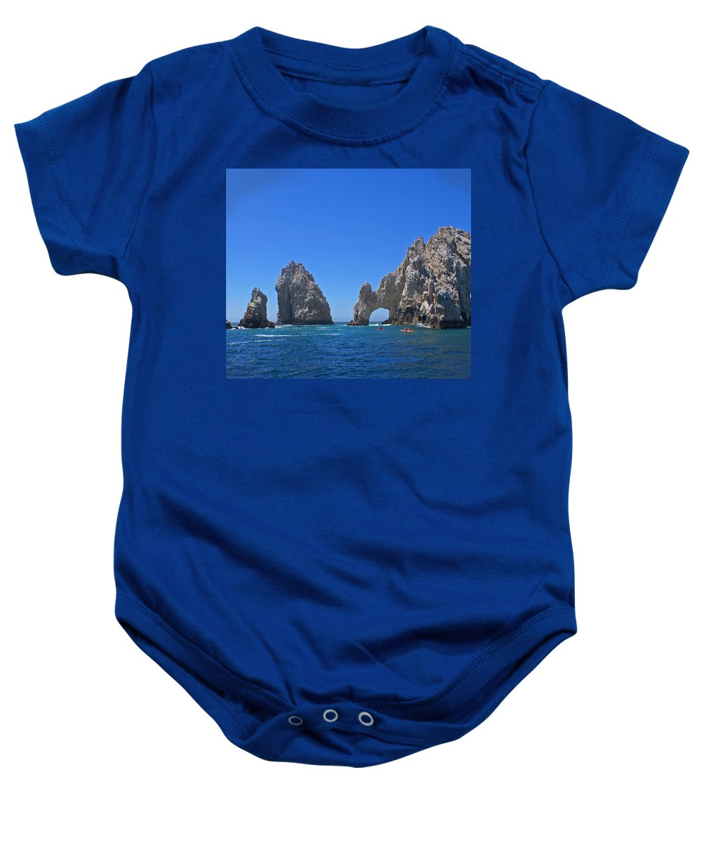 Mexico Baby Onesie featuring the photograph Arch At Cabo San Lucas by Heather Coen
