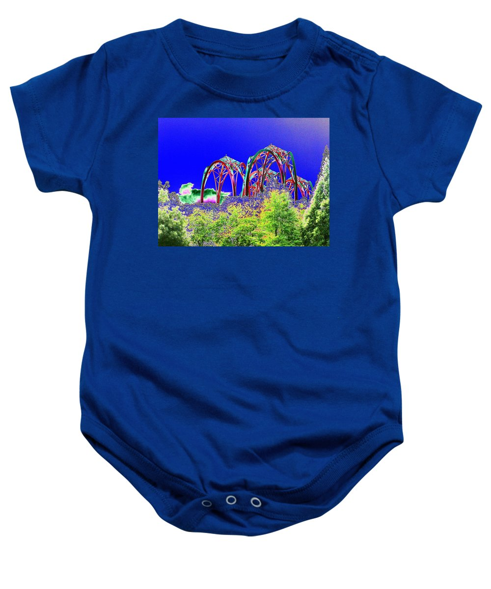 Seattle Baby Onesie featuring the photograph Arches 6 by Tim Allen