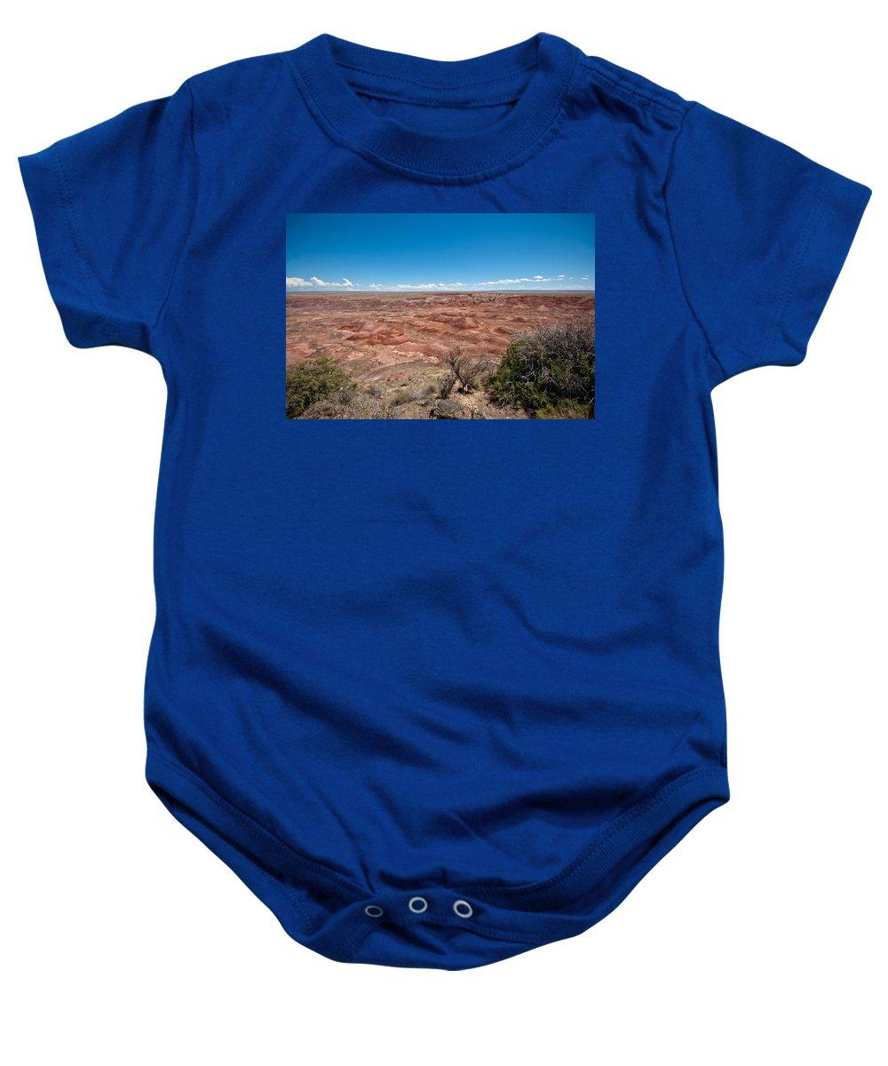 Photography Baby Onesie featuring the photograph Arizona's Painted Desert by Robert J Caputo