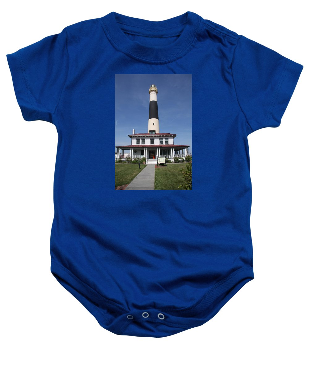 Asecon Lighthouse Baby Onesie featuring the photograph Asecon Lighthouse by Christiane Schulze Art And Photography