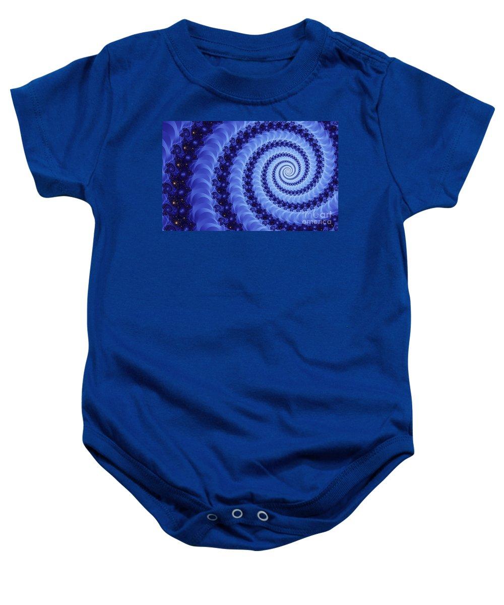 Clay Baby Onesie featuring the digital art Astral Vortex by Clayton Bruster