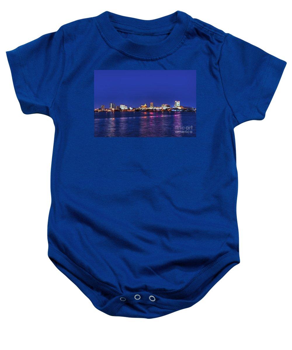 Atlantic City Baby Onesie featuring the photograph Atlantic City Skyline. by John Greim