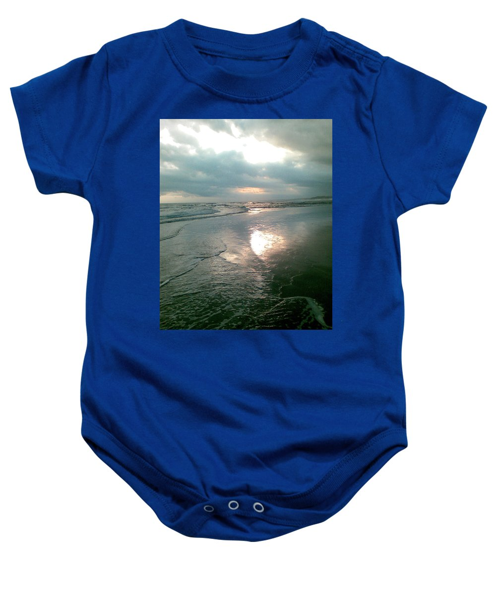 Bali Baby Onesie featuring the photograph Bali Dusk by Mark Sellers