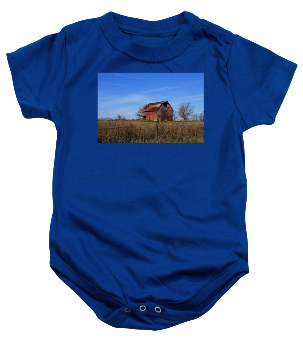 Barn Baby Onesie featuring the photograph Barn103 by David Arment