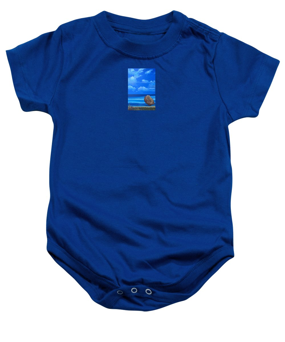 Barbados Baby Onesie featuring the painting Bathsheba by Hunter Jay