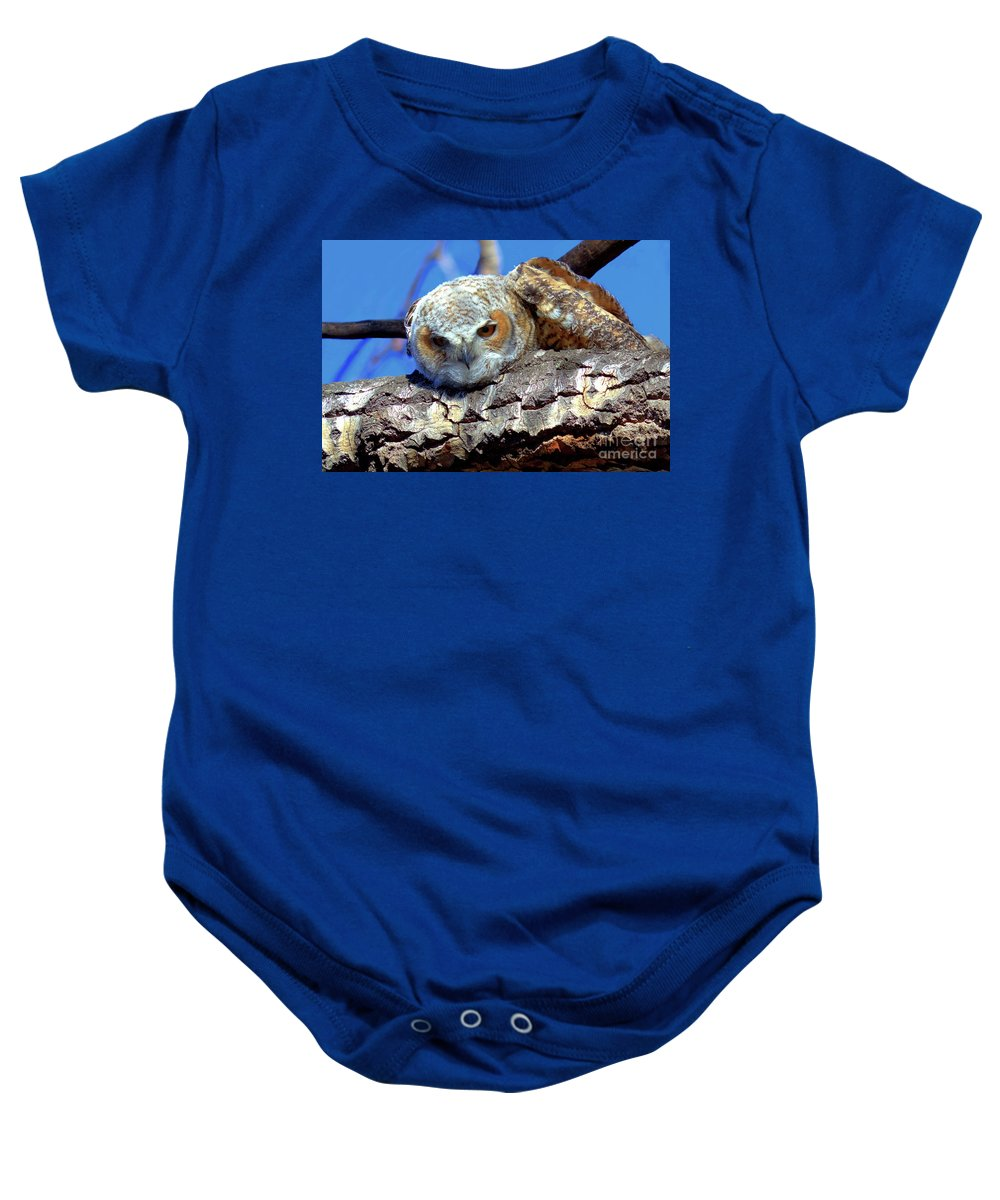 Owlet Baby Onesie featuring the photograph Be The Tiger by James Anderson