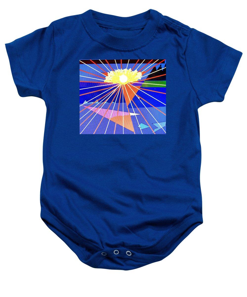 Sunset Baby Onesie featuring the digital art Bermuda Sunset by Ian MacDonald