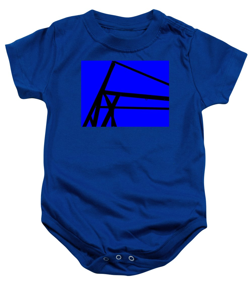Blue Abstract Baby Onesie featuring the painting Blue Angle Abstract by Eric Schiabor