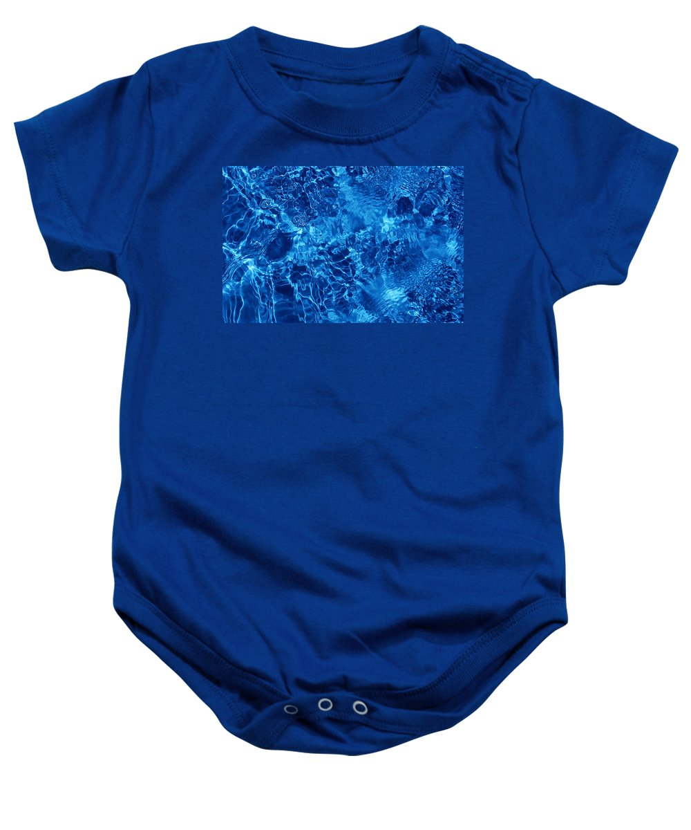 Water Baby Onesie featuring the photograph Blue Blue Water by Jill Reger