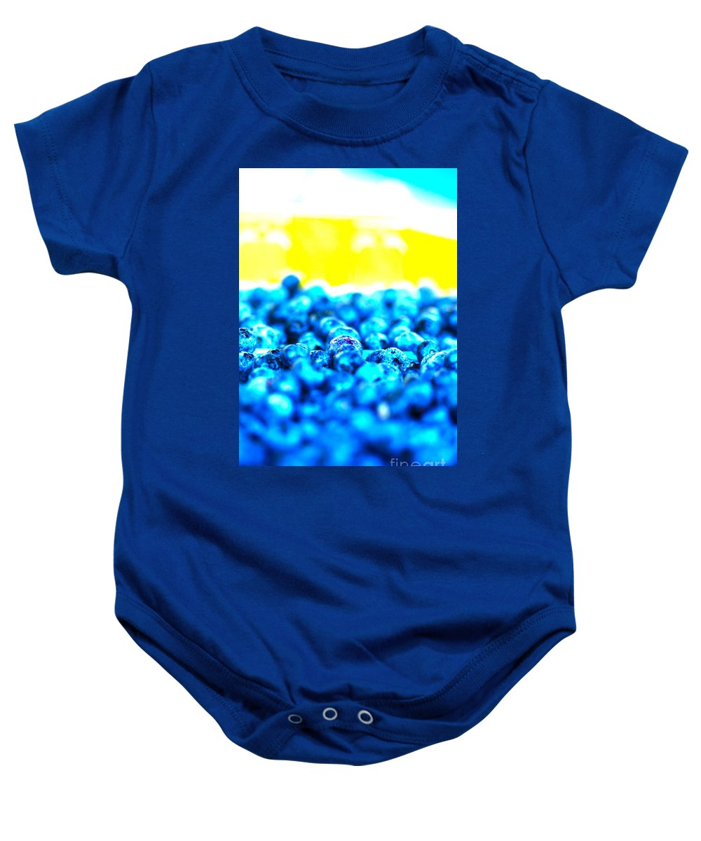 Blue Baby Onesie featuring the photograph Blue Blur by Nadine Rippelmeyer