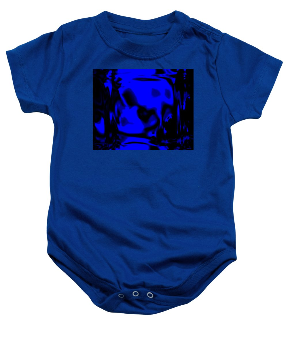 Aupre.com Hypermorphic Arthouse Unique Original Digital Art Made By The Hari Rama Baby Onesie featuring the painting Blue Fashion by The Hari Rama