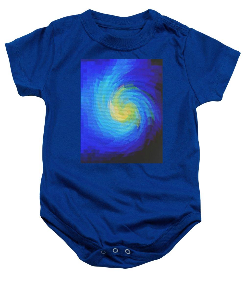 Blue Baby Onesie featuring the digital art Blue Galaxy by Ian MacDonald