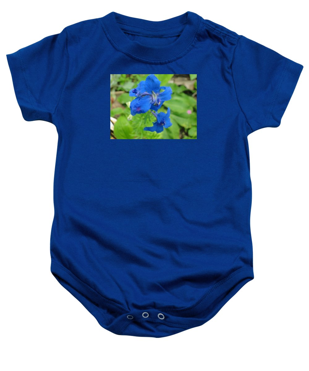 Nature Photography Baby Onesie featuring the photograph Blue Majestu by Lisa Toms