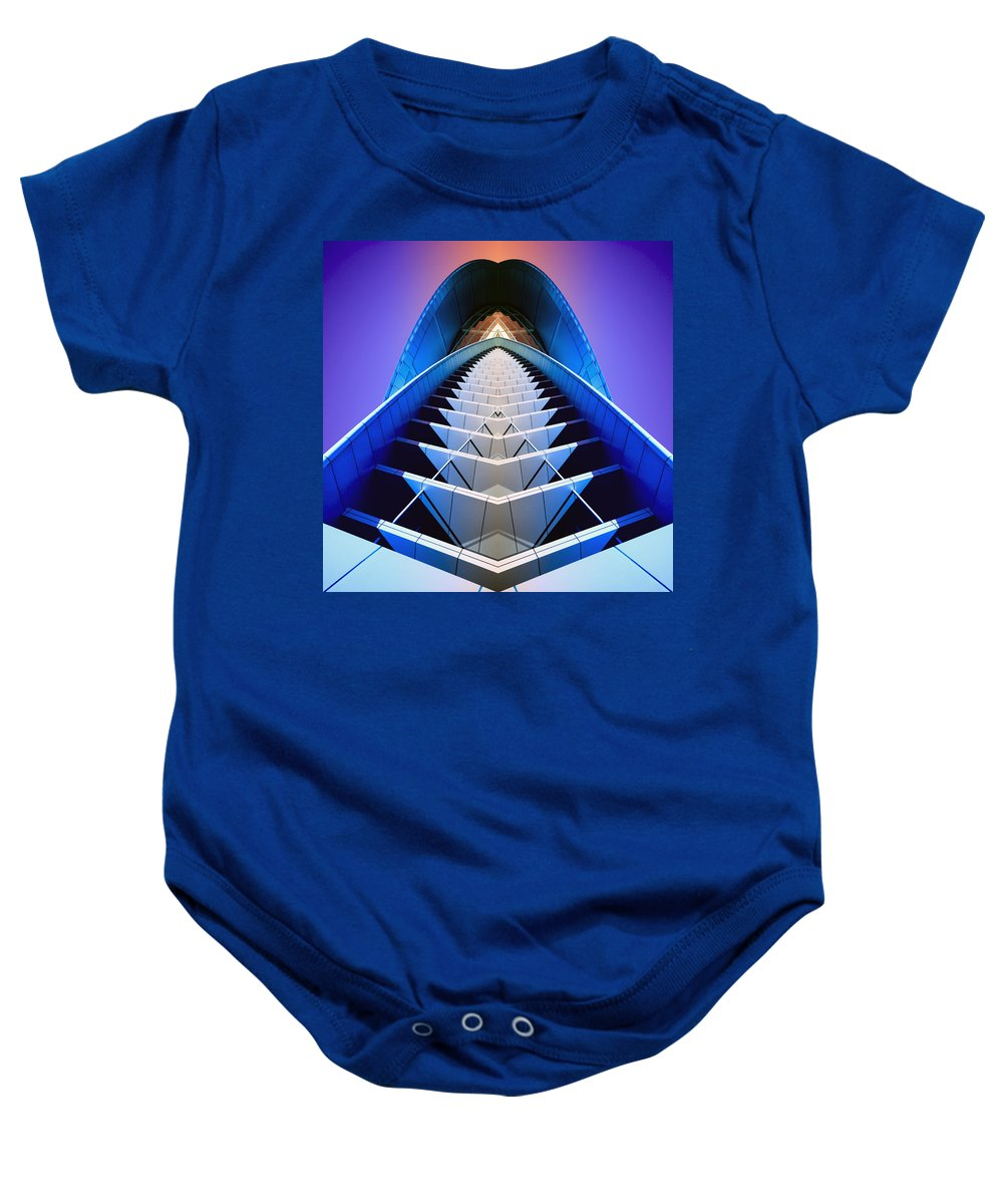 Blue Baby Onesie featuring the photograph Blue Shift by Wayne Sherriff