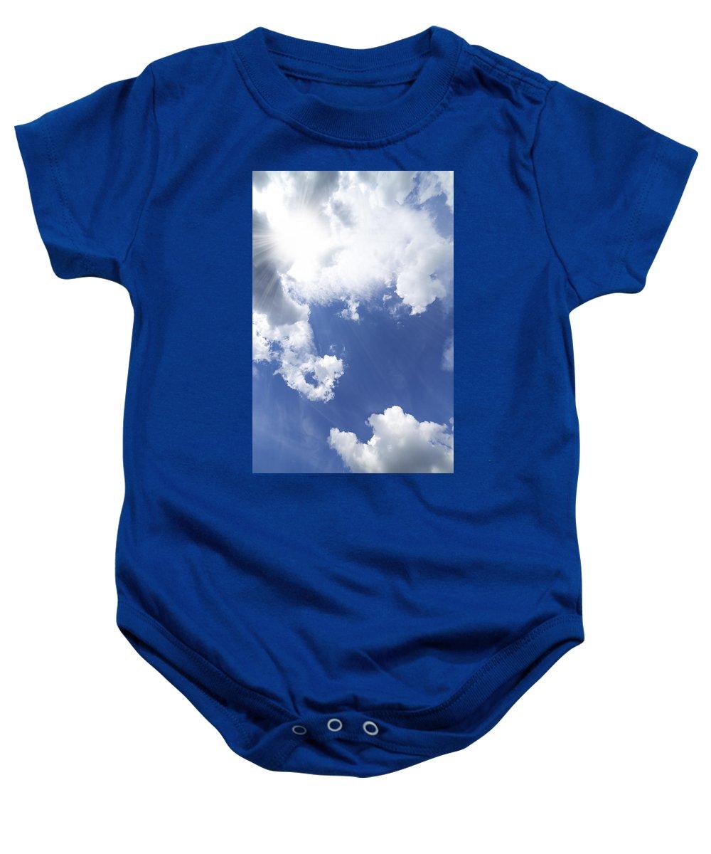 Air Baby Onesie featuring the photograph Blue Sky And Cloud by Setsiri Silapasuwanchai