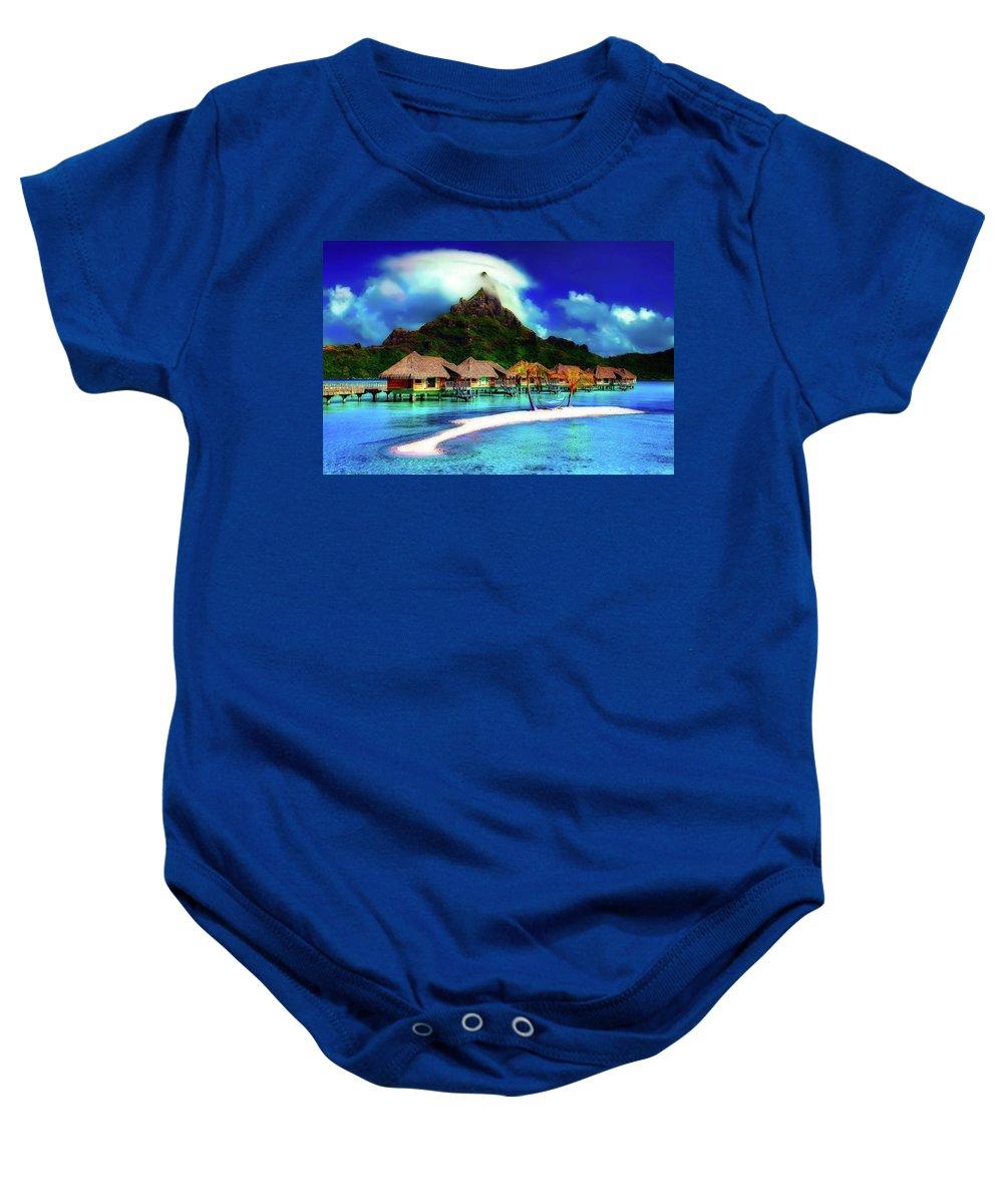 Bora Bora Baby Onesie featuring the photograph Bora Bora by Pixabay
