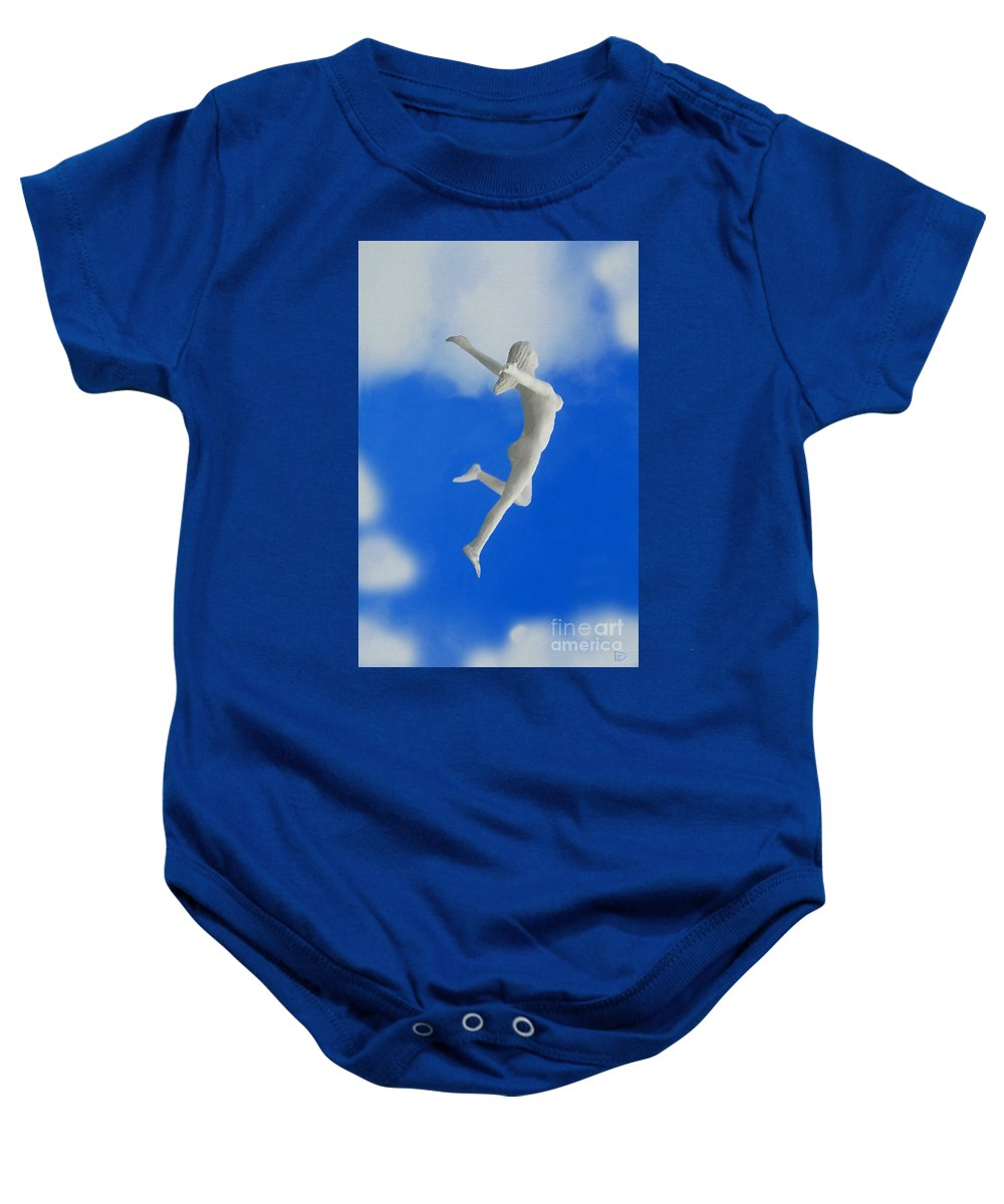 Boundless Woman Baby Onesie featuring the painting Boundless Woman by David Lee Thompson