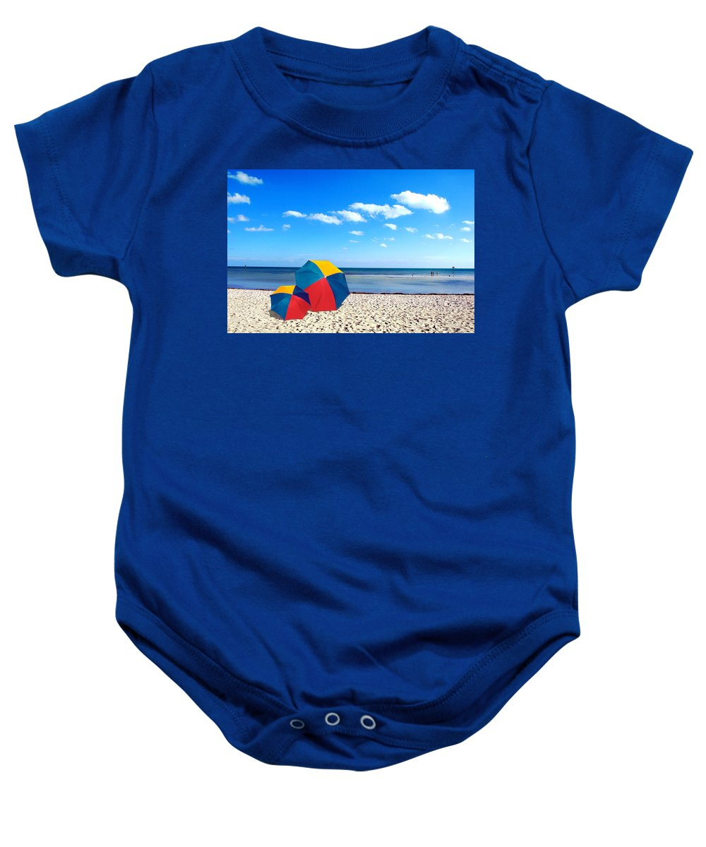 Unbrellas Baby Onesie featuring the photograph Bring The Umbrella With You by Susanne Van Hulst