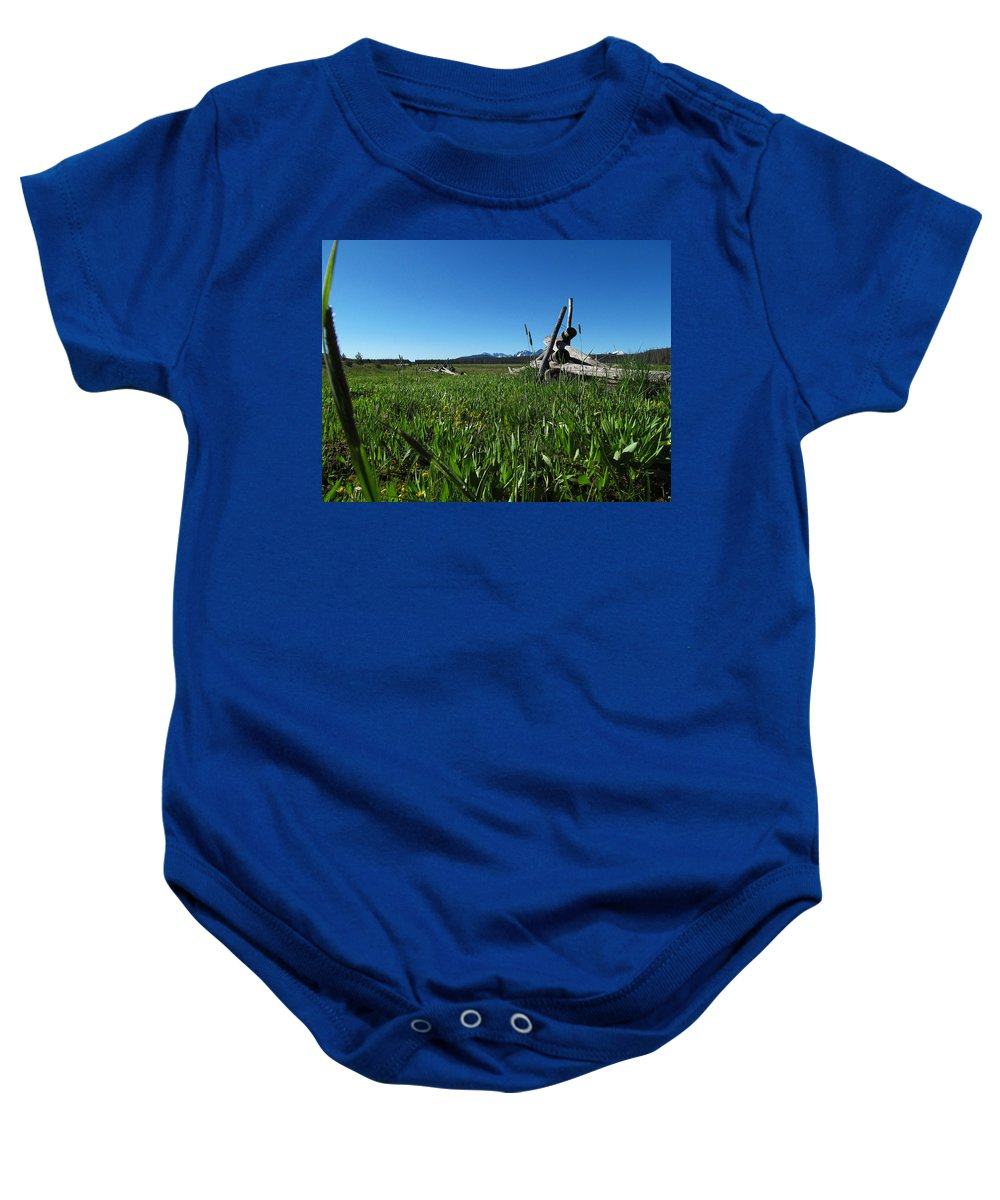 Nature Baby Onesie featuring the photograph Broken Fence by Dan Dixon