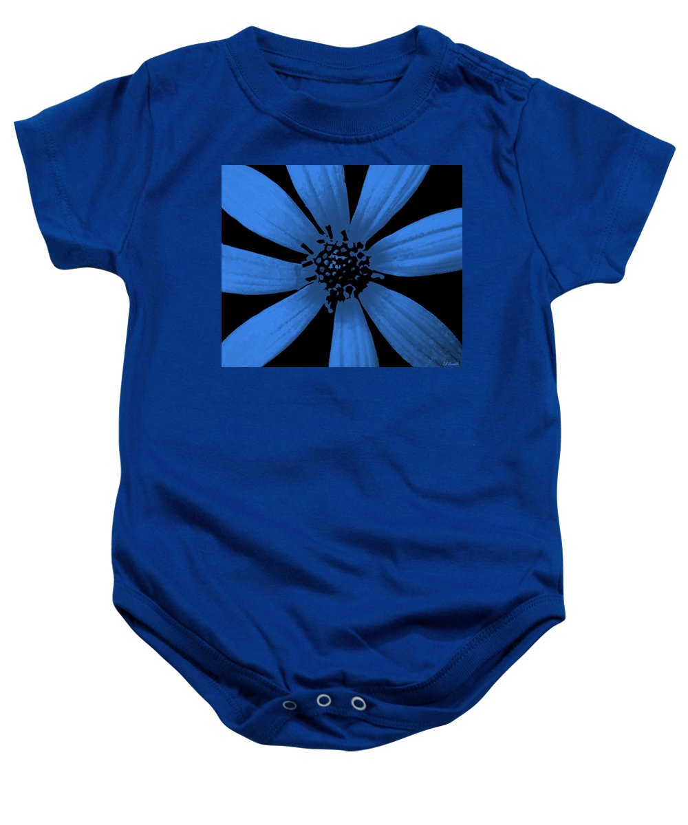 Bubble Blue Baby Onesie featuring the photograph Bubble Blue by Ed Smith