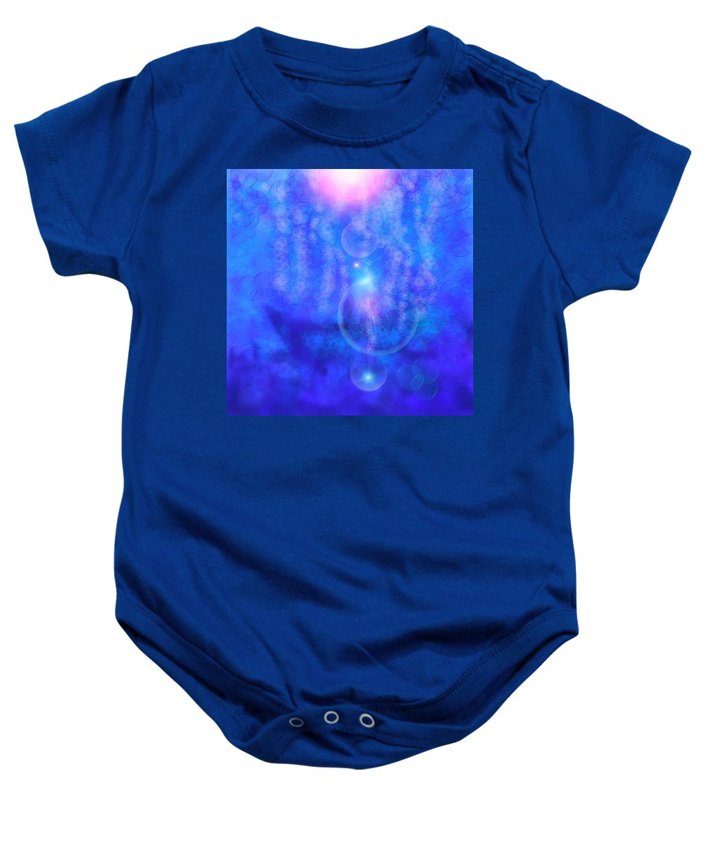 Pink Baby Onesie featuring the digital art Bubble Vision by Anthony Robinson
