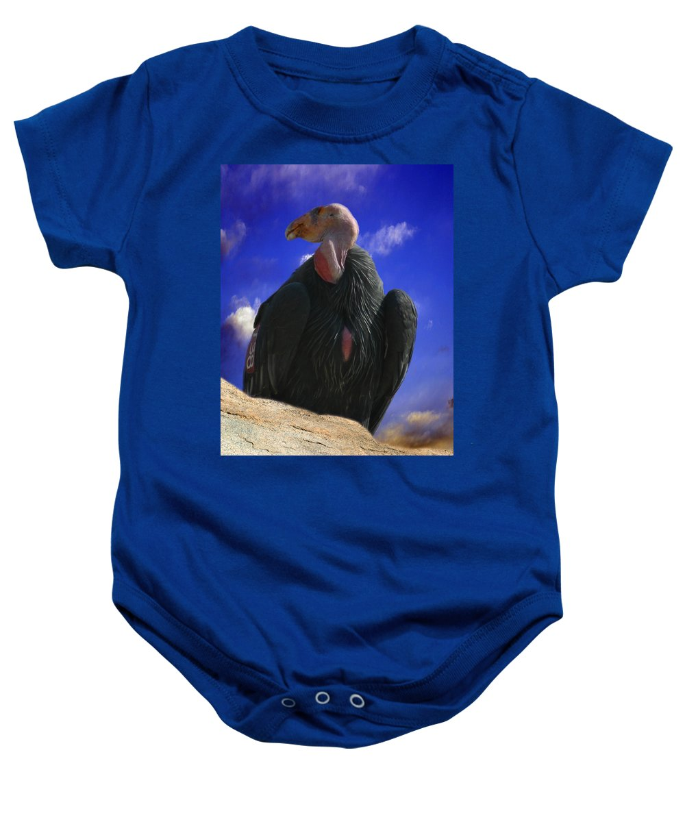 California Condor Baby Onesie featuring the photograph California Condor by Anthony Jones