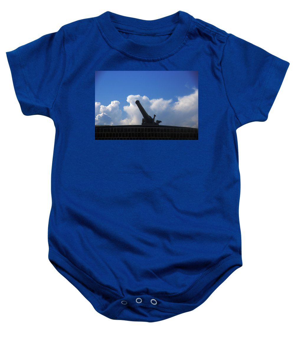 Photography Baby Onesie featuring the photograph Cannons At Fort Moultrie Charleston by Susanne Van Hulst