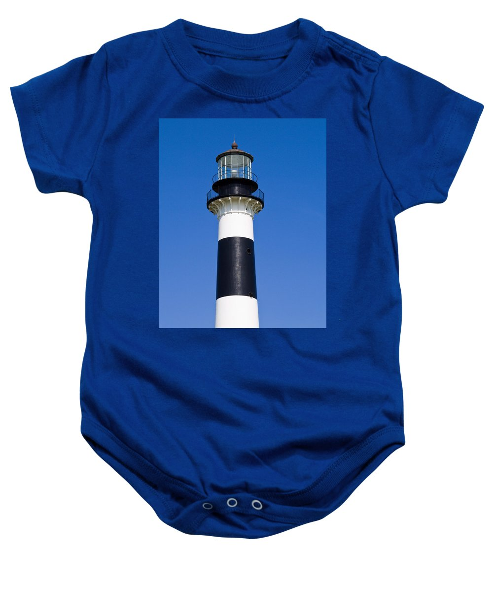 Cape; Canaveral; Light; Lighthouse; Florida; Keeper; Navigation; Usa; Atlantic; Kennedy; Space; Beac Baby Onesie featuring the photograph Cape Canaveral Lighthouse On The East Coast Of Florida by Allan Hughes
