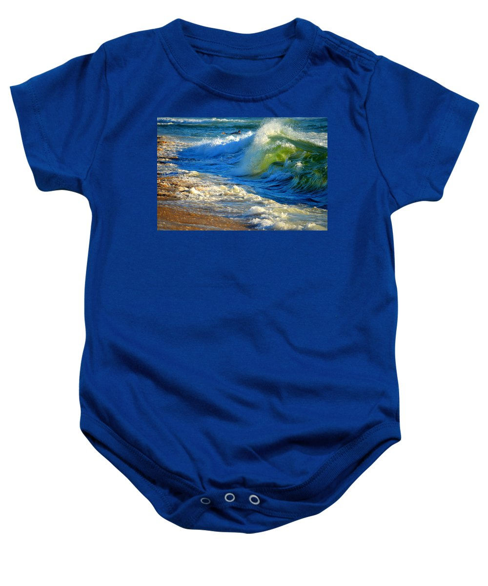 Ocean Baby Onesie featuring the photograph Cape Cod Surf by Dianne Cowen