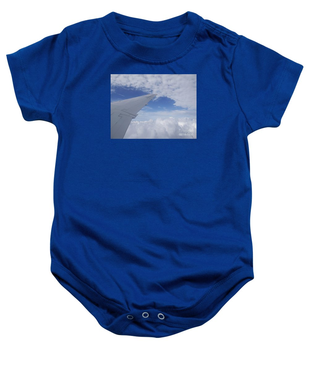 Clouds Baby Onesie featuring the photograph Carefree by Ann Horn