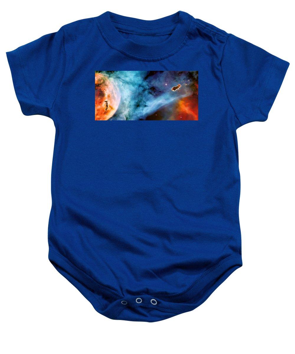Nebula Baby Onesie featuring the photograph Carina Nebula #5 by Jennifer Rondinelli Reilly - Fine Art Photography