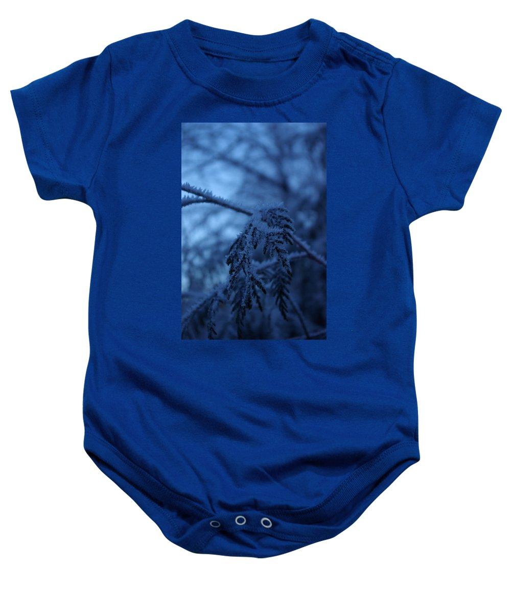 Cedar Baby Onesie featuring the photograph Cedars Of Ice II by Cindy Johnston