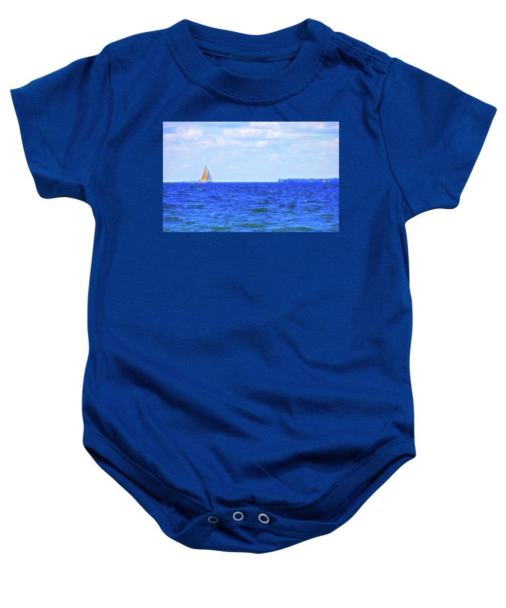 Sail Baby Onesie featuring the photograph Celestial Skies Sailing The Blue by Aimee L Maher ALM GALLERY