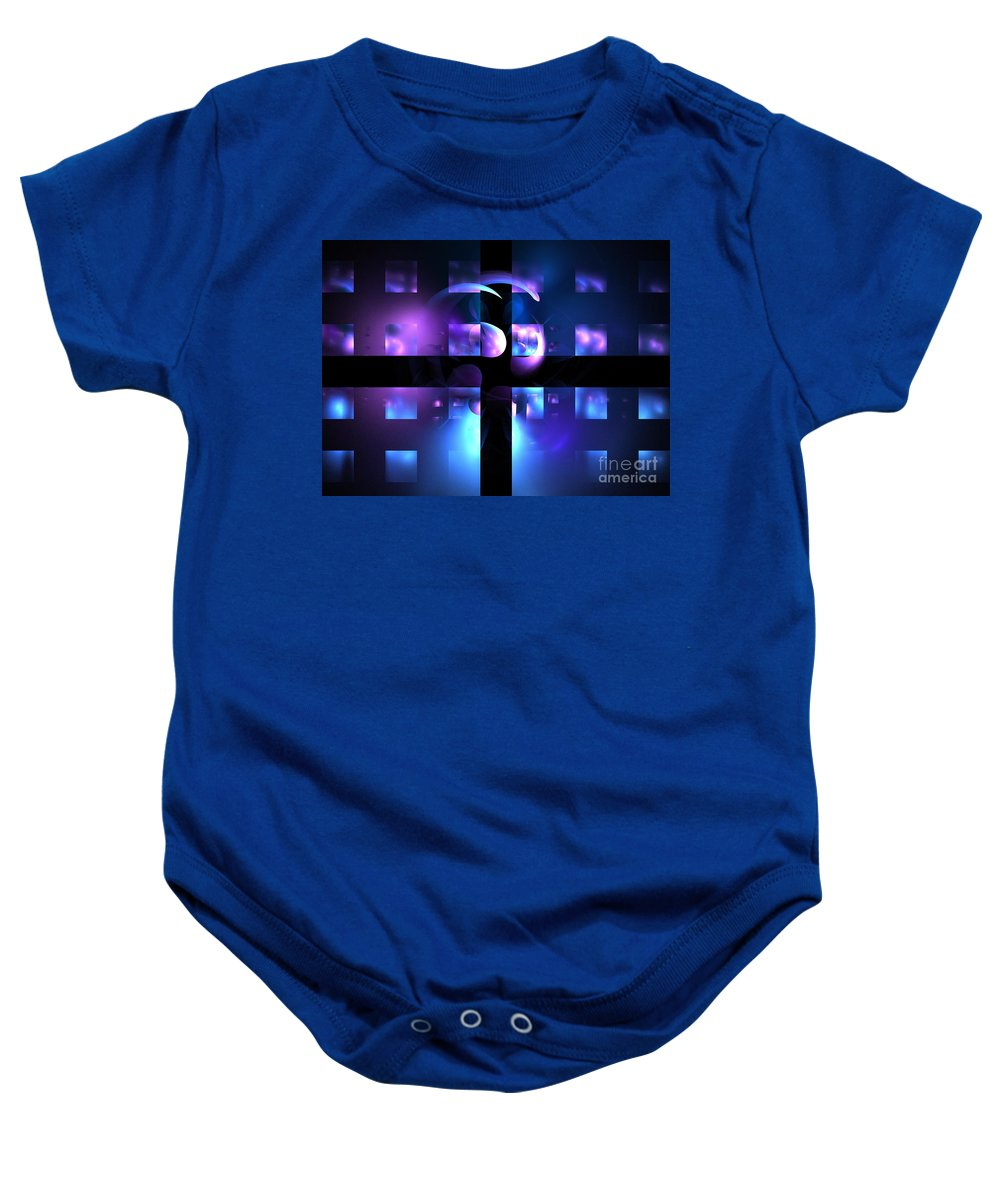 Apophysis Baby Onesie featuring the photograph Cetacean Grid by Kim Sy Ok