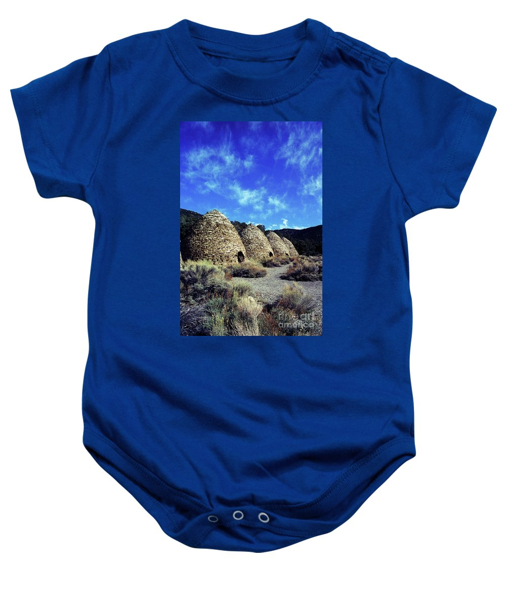 Wild Rose Canyon Baby Onesie featuring the photograph Charcoal Kilns by Jim And Emily Bush