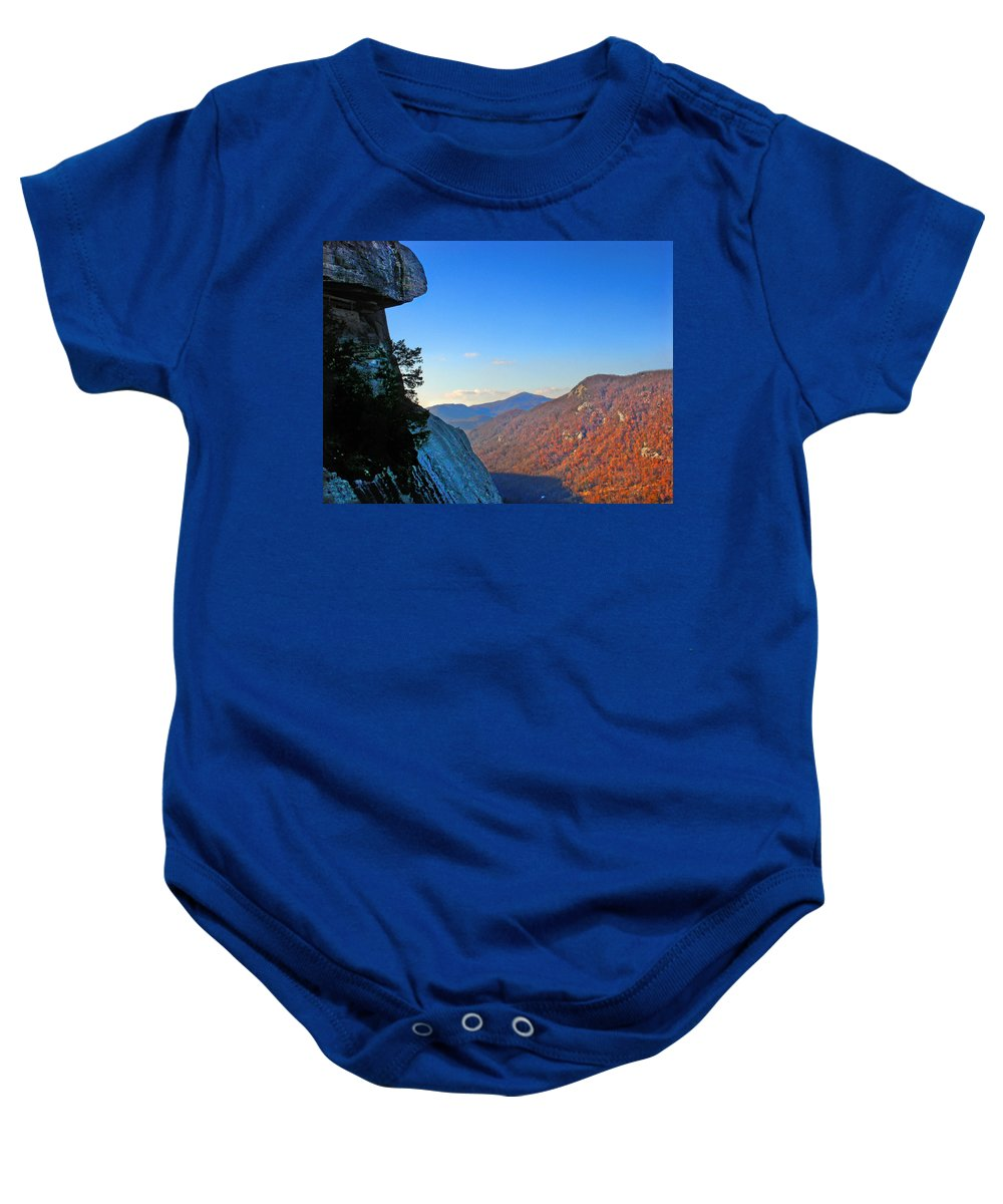 Landscape Baby Onesie featuring the photograph Chimney Rock 2 by Steve Karol