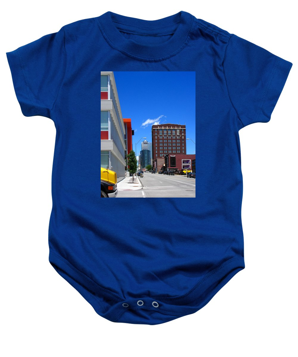 Kansas City Baby Onesie featuring the photograph City Street by Steve Karol