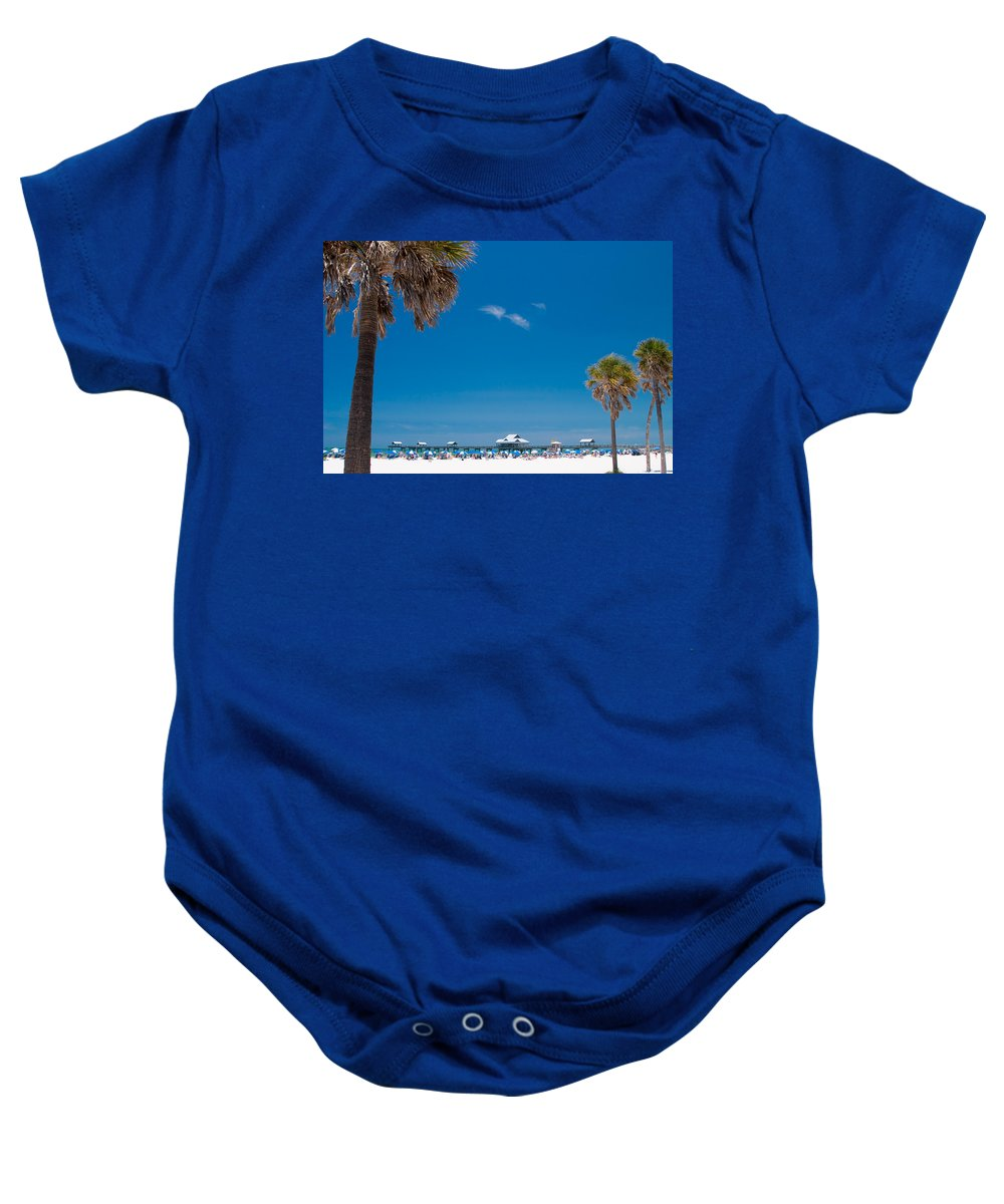 3scape Baby Onesie featuring the photograph Clearwater Beach by Adam Romanowicz
