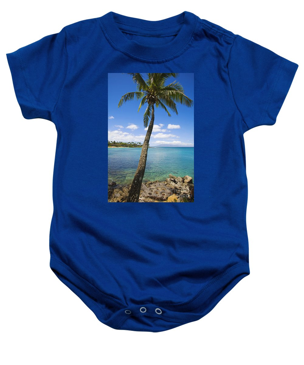 Bay Baby Onesie featuring the photograph Coconut Tree by Ron Dahlquist - Printscapes